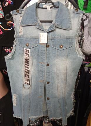 Безрукавка джинсовая off-white