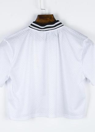 Белая футболка сетка4 фото