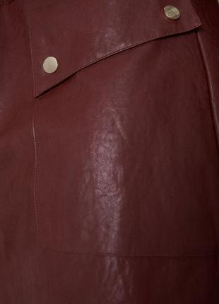 Новая кожаная юбка zara5 фото