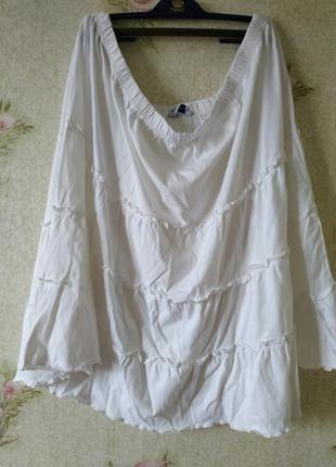 Летняя юбка миди из натуральной ткани. батальный размер