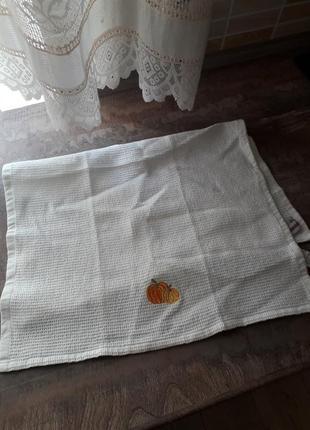 Новое вафельное полотенце с тыквочкой( германия)