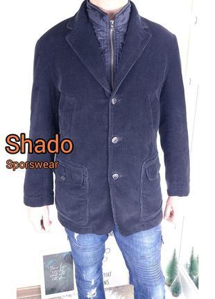 Shado sportswear вельветовая утепленная куртка со стёганой съемной подстёжкой