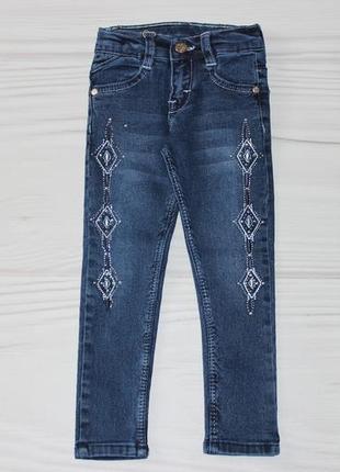 🍀 джинсы с вышивкой и стразами, есть утяжка, турция 🍀