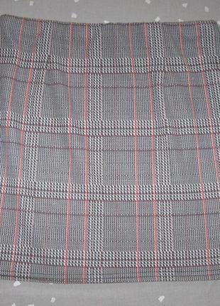 Короткая юбка new look р.12 легкая трикотажная в клетку
