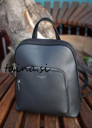 Рюкзак класический david jones cm5140t black оригинал черный городской
