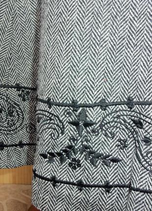 Шерстяная тёплая юбка  колокол с шелковой подкладкой  и вышивкой gerry weber5