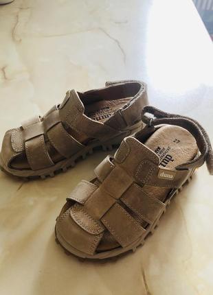 Кожаные  ортопедические сандали duna р-р 27