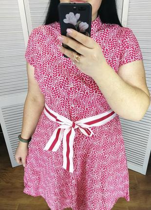 Хлопковое платье-рубашка, р. 20.