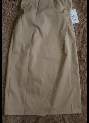 Яркая юбка на запах миди тренд высокая посадка талия3 фото