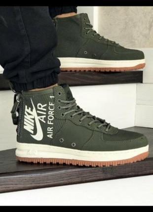 Мужские кроссовки высокие весна nike air force 1