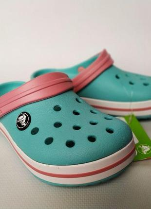 Crocs kids crocband ice blue white
