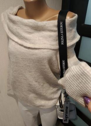 Натуральная шерсть альпака шикарный джемпер свитер свитшот