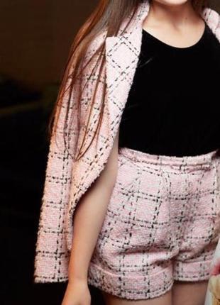 Твидовый костюм укр бренда weannabe розовый