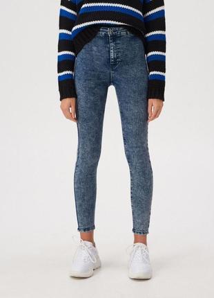 Укороченные джинсы скинни с высокой посадкой варенки sinsay high waist