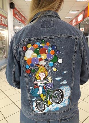 Куртка джинсовая ручная работа