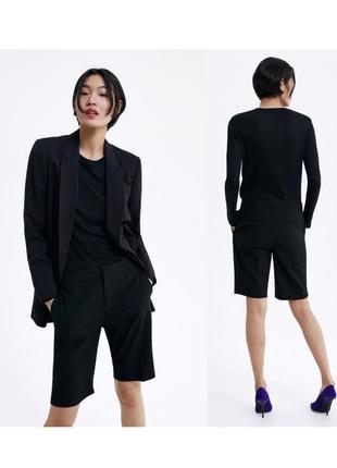 Новые чёрные шорты zara