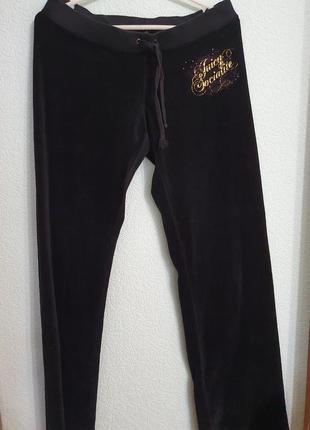 Спортивные велюровые брюки штаны