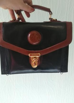 Сумка винтажная. chiltern brown and black  сумка 1980-х годов
