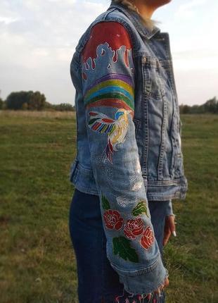 Джинсовая куртка (ручная работа)