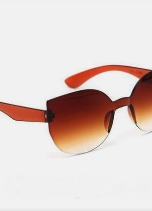 Уценка коричневый градиент солнцезащитные очки женские безободковые без оправы