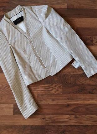 Новый с биркой стильный пиджак в полоску