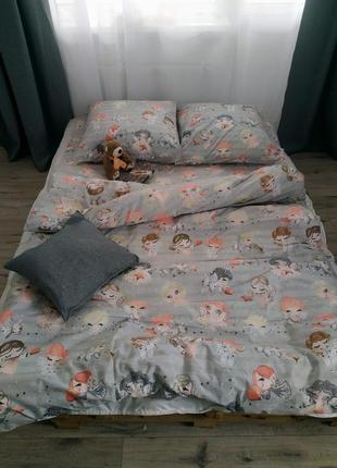 Полуторный постельный комплект ангелочки в наличии