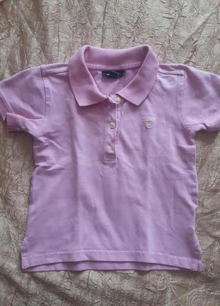 Розовая футболка поло gant