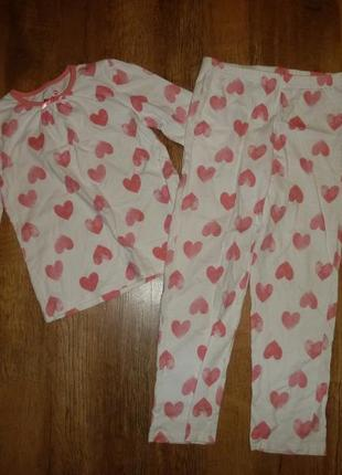 George хлопчатая пижама на 7-8 лет, 100% коттон