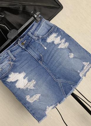 Трендовая  джинсовая юбка  holilster