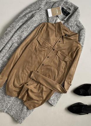 Трендовая замшевая рубашка chicoree