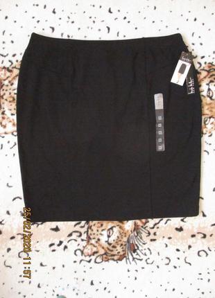 Плотная трикотажная юбка карандаш