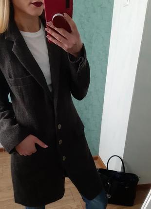 Шерстяное пальто-пиджак zara