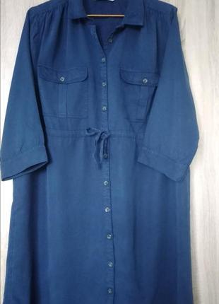 Шикарное джинсовое платье платья сукня  размер 56-58