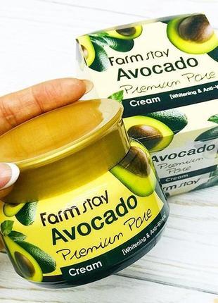 Премиум-крем с авокадо farm stay avocado premium pore cream