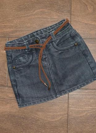 Стильная джинсовая юбка на 5-6 лет