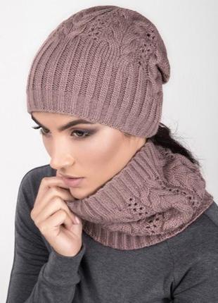 Комплект шапка шарф-снуд