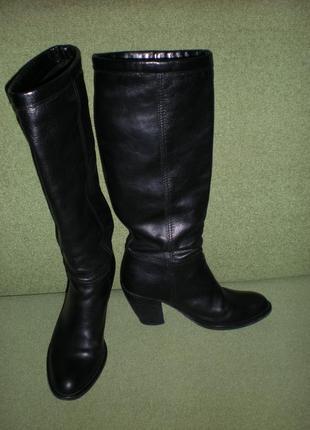 Miss sixti чёрные кожаные сапоги