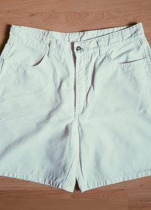Мини шорты момс белые летние на высокой талии посадке джинсы