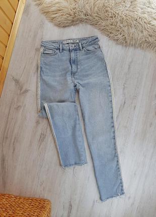 Мом джинси з лампасами