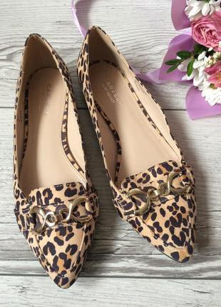 Леопардовые лоферы, туфли, 38