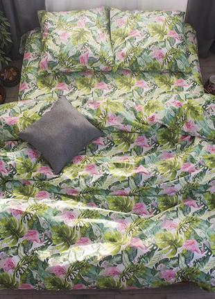 Комплект постельного белья тропики, комплект постільної білизни