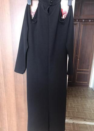 Вечернее платье-миди с оголёнными плечами2 фото