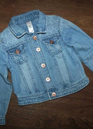 Джинсовая куртка tu на 3-4 года