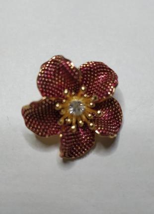 Брошь - кулон цветок