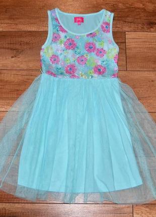 Платье стильное, нарядное pinky 134-140 см 9-10 лет