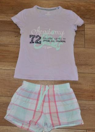 Пижама футболка и шорты pepperts! 128-140 см 8-10 лет