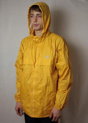 Куртка дождевик adidas желтая винтаж