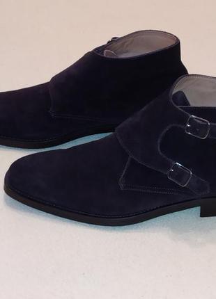 Шикарные замшевые ботинки/полуботинки от премиум бренда suitsupply