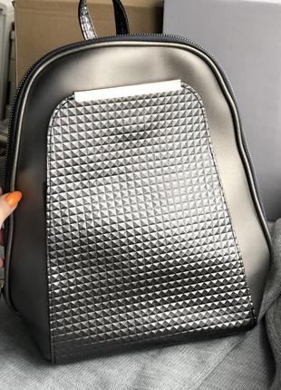 Серый стильный новый городской рюкзак