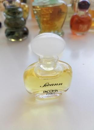 Винтажная миниатюра pacoma swann, parfum/экстракт/чистые духи, 2 мл